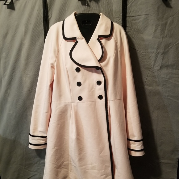 Elle Jackets & Blazers - Elle Soft Pink Trench Coat